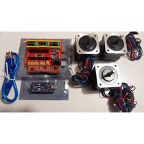 Kit Cnc Arduino Nano, Cnc Shieldv4, A4988, Motores A Pasos