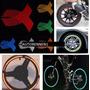 Cintas Reflejantes Rin Colores Moto Auto Color Azul De Cinta