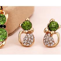 94cf6570922a Lote 3 Set De Collar Y Aretes Gatitos Cristales Envío Gratis en ...
