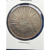 Moneda 1 Peso 1905 R P Culiacan Muy Escaso Plata Original