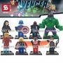 Set 8 Figuras Avengers Marvel Ultron Falcon Compatible Lego