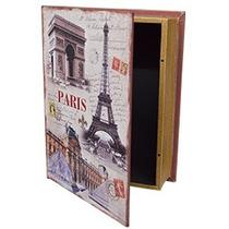Caja Portalibros Estampado Paris De 32x24x8cm