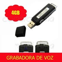 Memoria Grabadora De Voz Microfono Espia Usb 4 Gb 2 En 1 Vbf