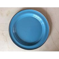 Plato Base Peltre 26 Centimetros Nueva Moda En Tu Mesa Azul