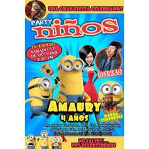 Invitaciones Infantiles Personalizada Revista Original