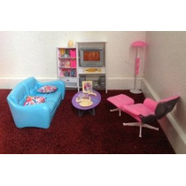 Barbie Tamaño Dollhouse Muebles - Habitación Familiar Televi