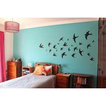 Hermoso Vinilo Decorativo Pájaros Volando