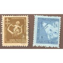 Estampillas De Cuba Lucha Contra La Tuberculosis 1951, 1952