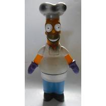 Vieja Figura De Homero Simpson Chef Burger King 2001