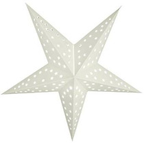 Quasimoon 24 Blanco Sólido Cut-out Estrella De Papel Linter