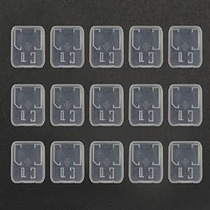 Bluecell Paquete De 15 Titular De Plástico Transparente Caja