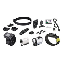 Sony Actioncam + Pantalla Y Kit Accesorios Hdr-az1vw