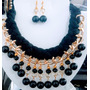 Collares Artesanal Tejido Con Cristal Perla Bisuteria Fina