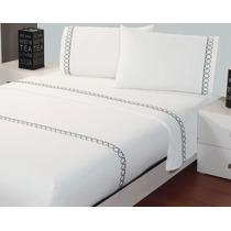 Jgo. De Sabanas Estampadas Cotton Fresh Onix Matrimonial