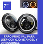 Faro Led Para Jeep Con Oje De Angel Y Direccional Integrado