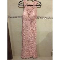 Vestido De Fiesta Palo De Rosa Talla 6 Con Excelente Forma