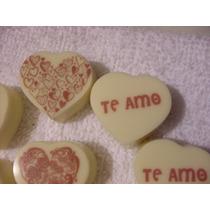 Pkt 18 Chocolates Personalizados En Forma De Corazón