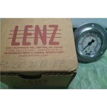 Lenz. Manómetro C/ Glicerina. Rango 0 A 300 Psi. Brida Front