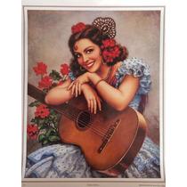 Guitarra Andaluza Poster Tradicional Mexicano Jesus Helguera