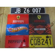 Placas Autos Famosos Ferrari, Harley, Hot Wheels, James Bond