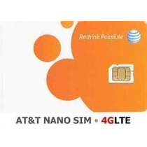 At & T Nano Tarjeta Sim Para Iphone 5 5s 5c 6 6 Plus Y Ipad