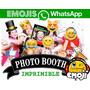 Kit Imprimible Photo Booth Emojis Emoticon 2x1 Unico