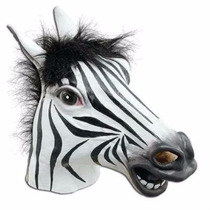 Disfraz Signstek Horror Scary Zebra Horse Head Mask For Hall