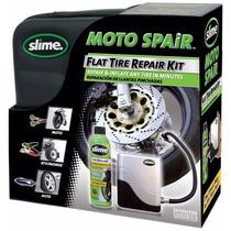 Kit Reparador De Llantas Slime Con Bomba De Aire Ideal Moto