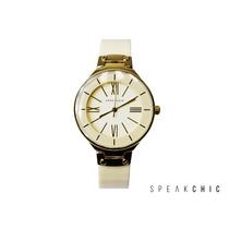 Reloj Anne Klein 1958 Blanco Con Dorado