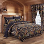 Edredon The Woods Black Camouflage King 8pc Premium Luxury