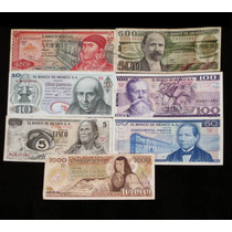 Billetes 5 A 1000 Pesos Banco De Mexico Serie Completa