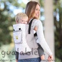 Portador Para Bebes Lillebaby Gris Con Blanco