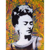 Arte Pintura Cuadro Retrato Frida Khalo Mdf Color