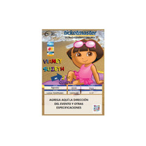 Ki-015 Kit Imprimible Y Editable Dora La Exploradora Playa