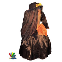 Disfraz Catrina Niña Halloween Con Sombrero Talla 6