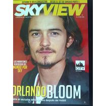Revista Sky View Orlando Bloom Gotham Sinsajo Garrett Cerdeñ