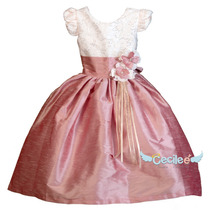 Vestido De Fiesta Niña Elegante Pajecita Shantung 010