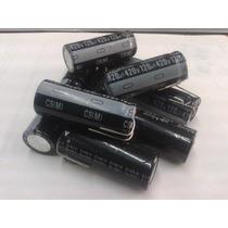 Capacitor Electrolitico 120 Uf 420 V Lote 2 Piezas.