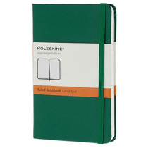 Libreta Verde Bolsillo Rayas Pasta Dura Moleskine Cuaderno