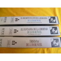 3 Antiguas Películas De Luis Buñuel. Vhs.