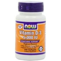 Now Foods Vitamina D3 5000 Ui Nuevo Valor Tamaño Del Paquete