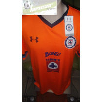 Jersey Under Armour La Maquina De Cruz Azul 2016 Naranja