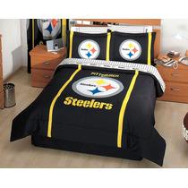 Juego De Edredon Matrimonial Steelers De Pittsburgh Concord