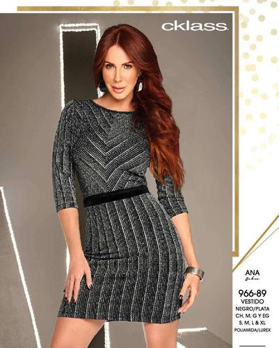 2e2be715d Vestido Cklass Negro   Plata 966-89 Otoño Invierno 2016 en venta en ...