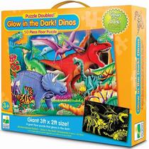 Rompecabezas Infantil 50 Pz Dinosaurios Gigante Luminoso !