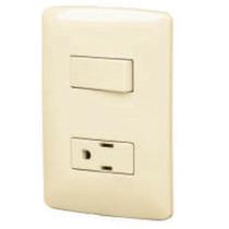 Placa Con Contacto E Interruptor Sencillo Voltech 48666