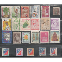 L601-republica Dominicana Lote Pequeño Timbres Usados-