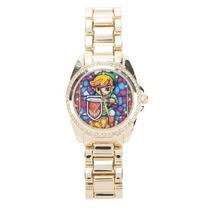 The Legend Of Zelda Exclusivo Reloj Con Cristales Link Dama