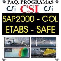 Csi Sap2000 15 Etabs Safe Col - Programas Estruturales