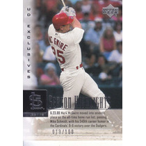 2000 Upper Deck Exclusives Silver Sh Mark Mcgwire 13/100